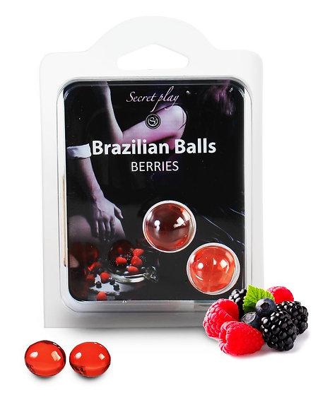 Duo Balls Brazilian Wood Fruit 3385-5