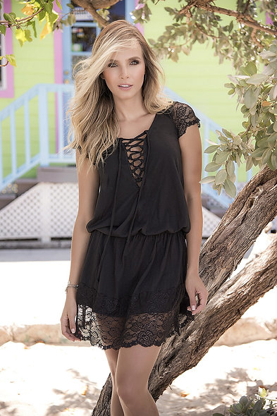 Beach Dress Style 4993 - Black