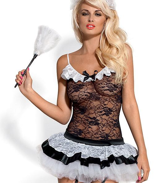Housemaid Costume - Black And White