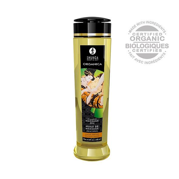 Organic Massage Oil - Almond Sweetness - 240 Ml