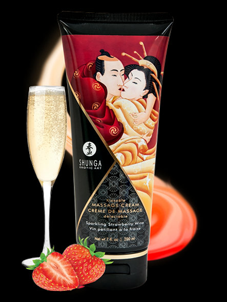 Delectable Massage Cream - Strawberry Sparkling Wine