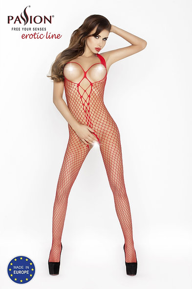 Bs014R Bodystocking - Red