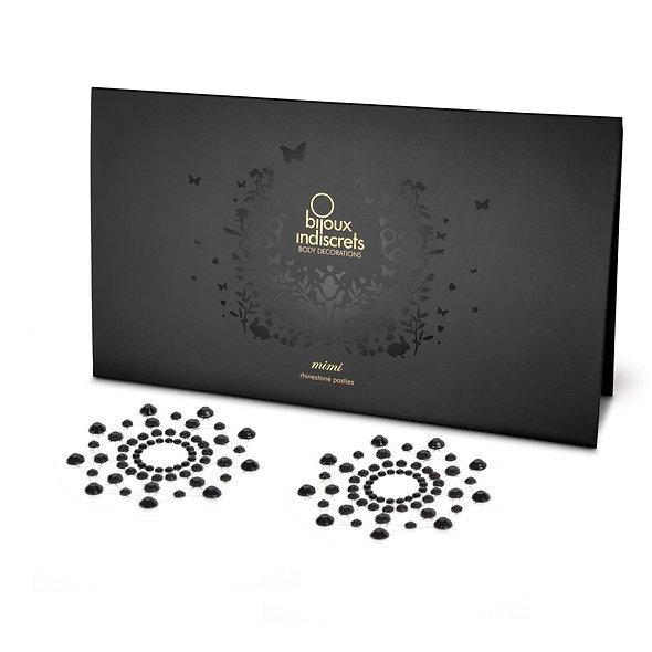 Mimi - Jewelry Rhinestones Breasts - Black