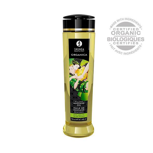 Organic Massage Oil - Green Tea - 240 Ml