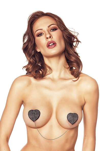 Orsy Pasties With Chain - Black