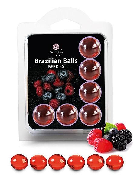 "6 Brazilian Balls ""Razzleberry"" 3386-5"
