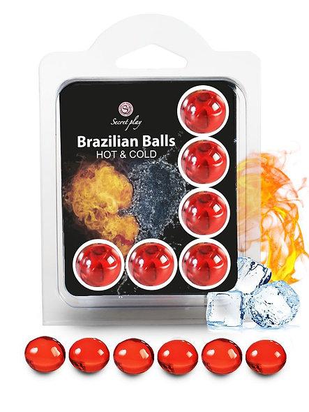 """6 Brazilian Balls """"Hot Cold Effect"""" 3629-1"""
