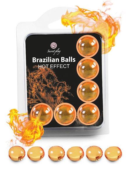 """6 Brazilian Balls """"Hot Effect"""" 3575-1"""