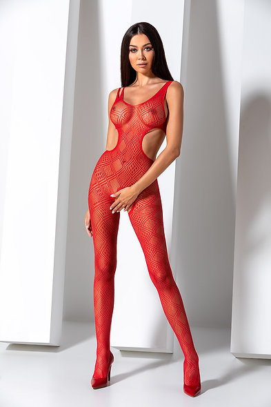 Bs085R Bodystocking - Red
