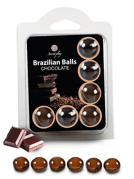 "6 Brazilian Balls ""Chocolate"" 3386-1"