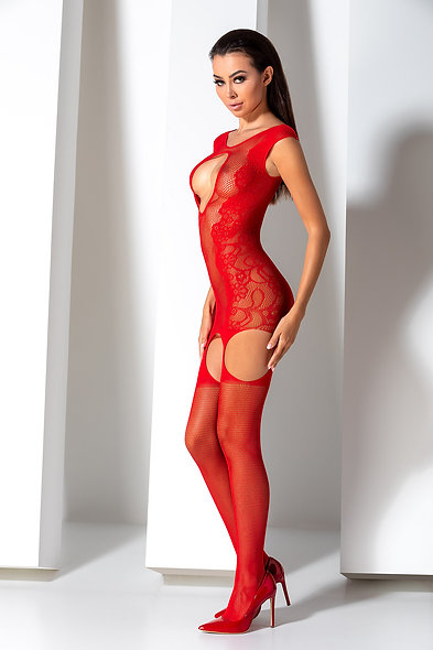 Bs082R Bodystocking - Red