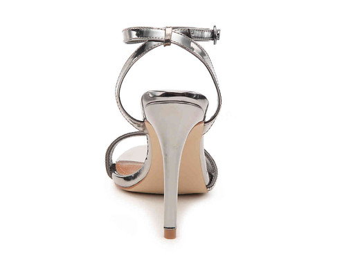 0822f956f6fb Add an elegant touch to your ensemble with the Ritter sandal from Steve  Madden that features glittering rhinestone embellishments and a towering  heel.