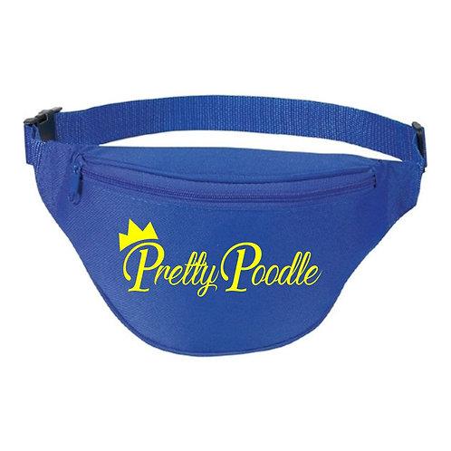Pretty Poodle Crown blue fanny pack