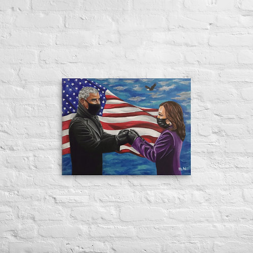 Inspired Inauguration Day Canvas Print