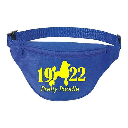 Poodle 1922 Blue Fanny Pack