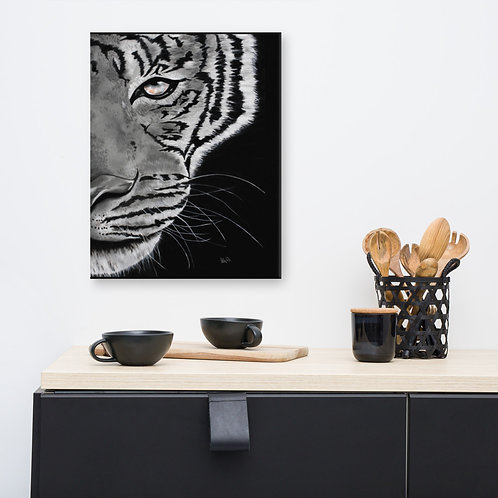 Tiger B/W Canvas print