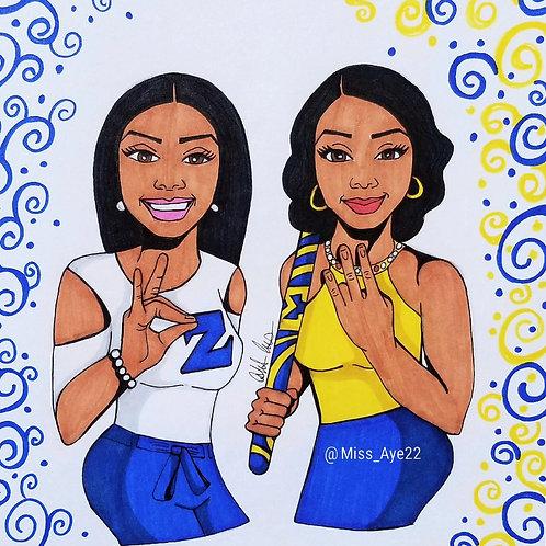 Royal Blue Sister Greeks