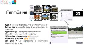 """Explorez une ferme de l'Aubrac avec """"FarmGame"""""""
