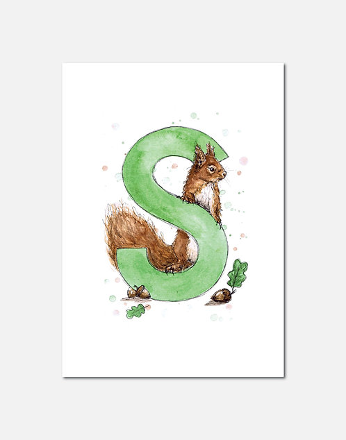 Letter S | Personalisable Alphabet Limited Edition Print
