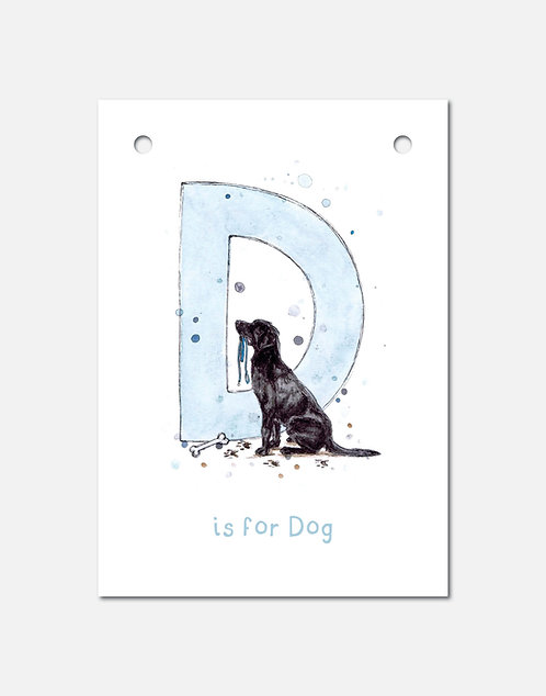 D is for Dog | Alphabet Bunting