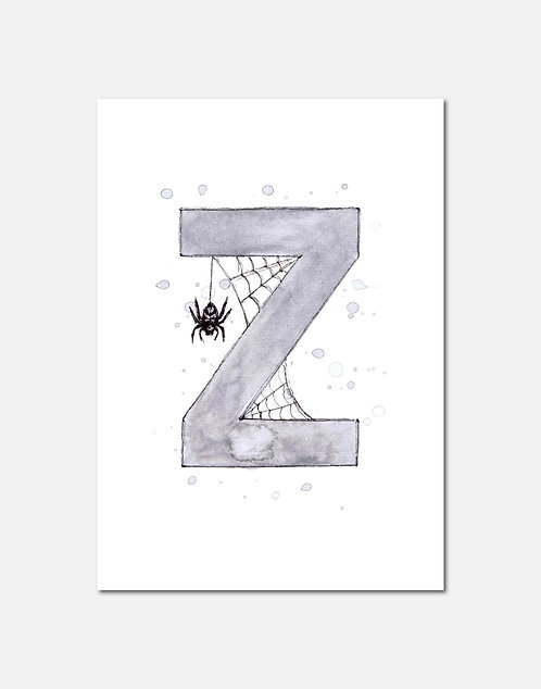 Letter Z | Personalisable Alphabet Limited Edition Print