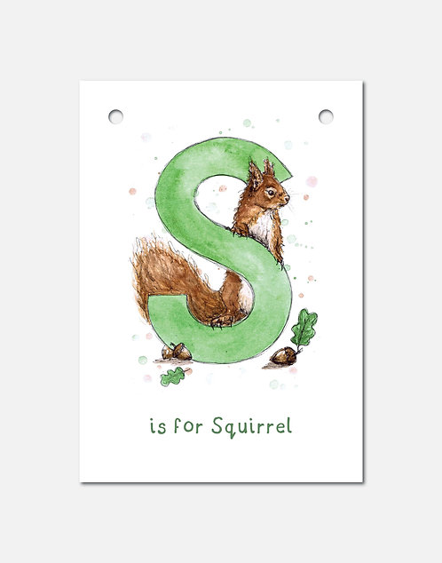 S is for Squirrel | Alphabet Bunting