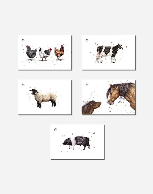 Down the Farm Collection | Mixed Set of 5 Gift Tags