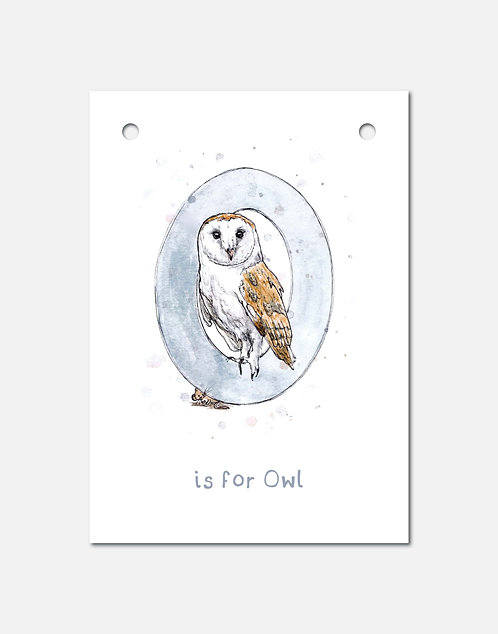 O is for Owl | Alphabet Bunting