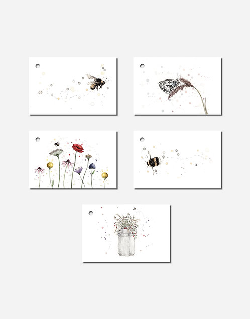 In the Garden Collection | Mixed Set of 5 Gift Tags