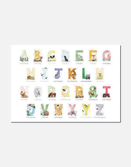 Countryside Themed Full A-Z | Signed Limited Edition Print