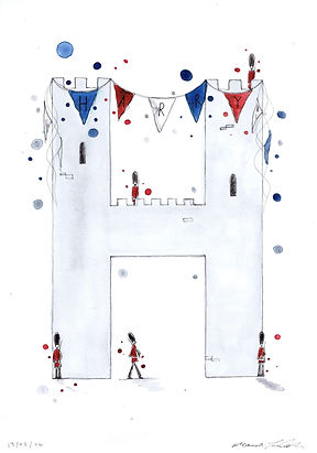 Bespoke Children's Initial Illustration, Eleanor Tomlinson