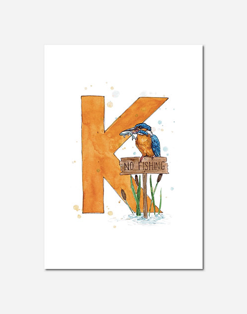 Letter K | Personalisable Alphabet Limited Edition Print