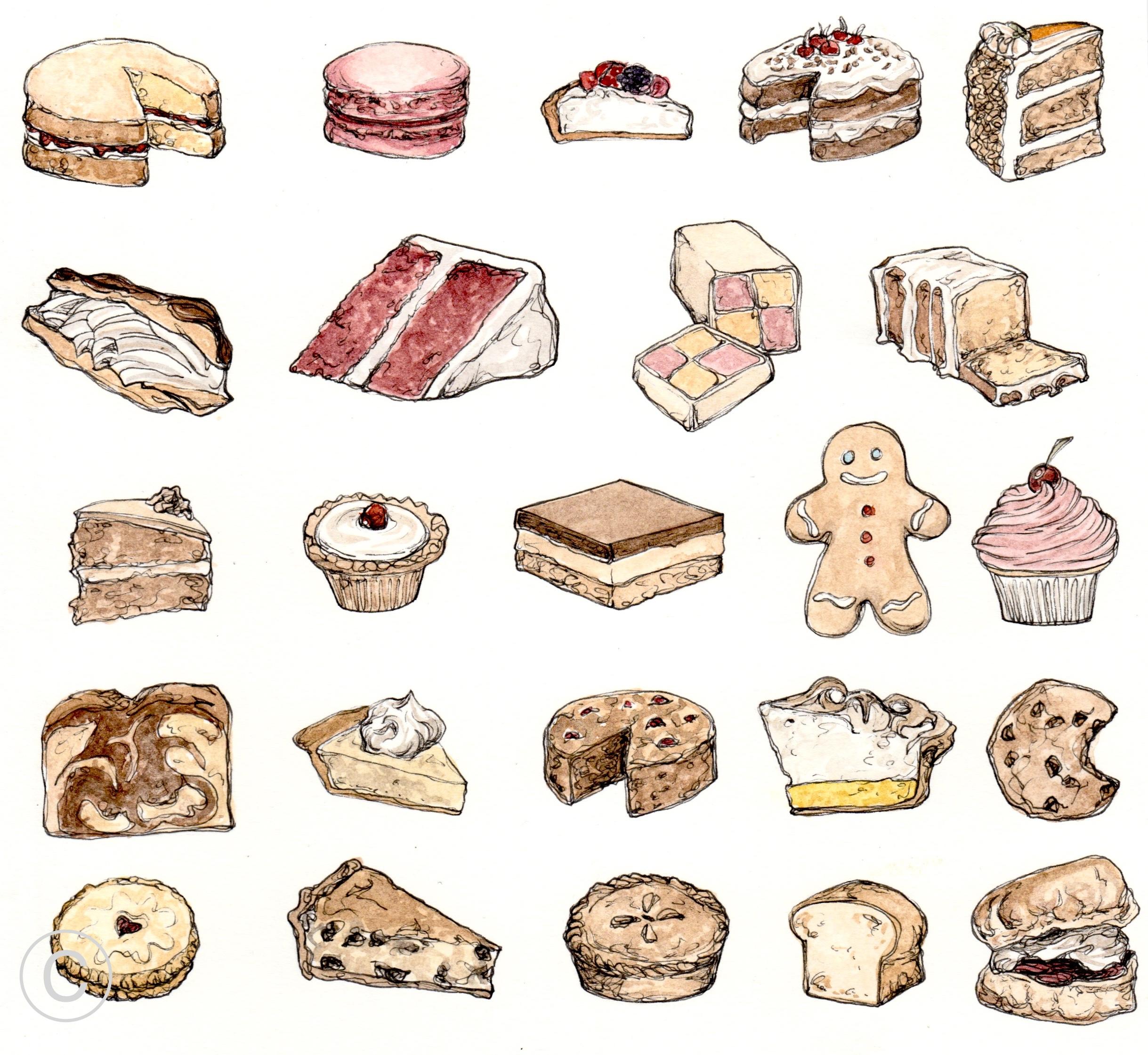 PERFECT BAKES SKETCHBOOK PAGE