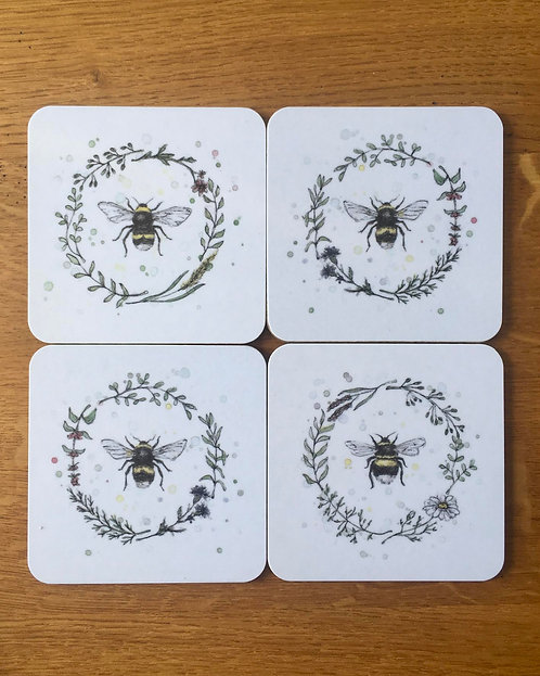 Garden Bees | Coaster Set
