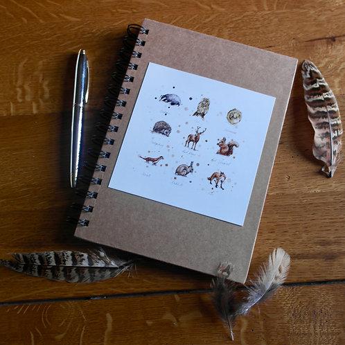 Woodland Wildlife | A5 Notebook
