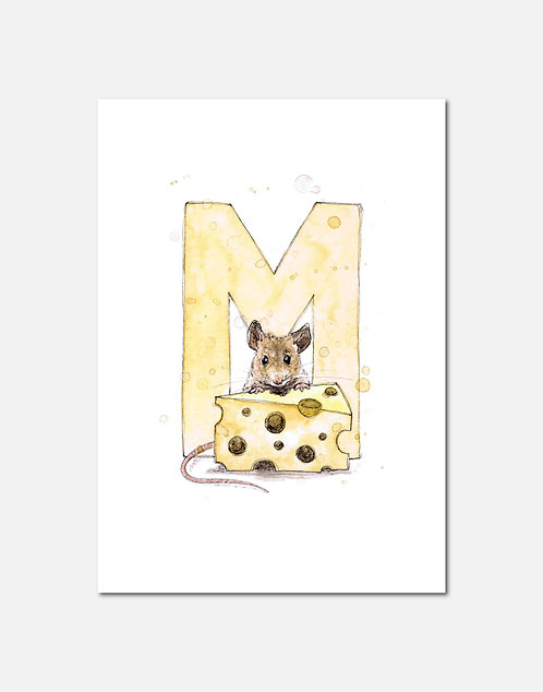 Letter M | Personalisable Alphabet Limited Edition Print