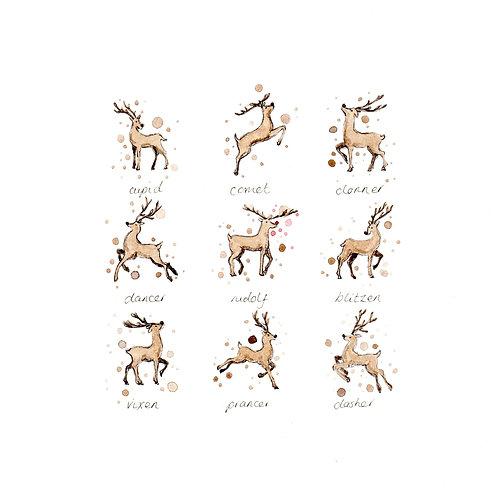 Reindeer | Original Ink & Watercolour