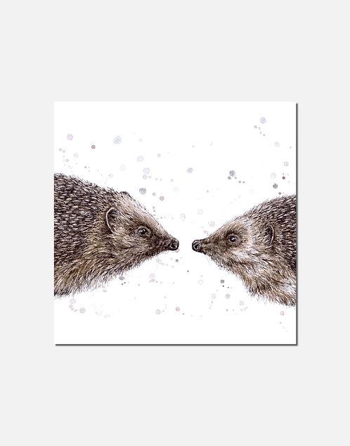 Hogs & Kisses | Original Ink & Watercolour