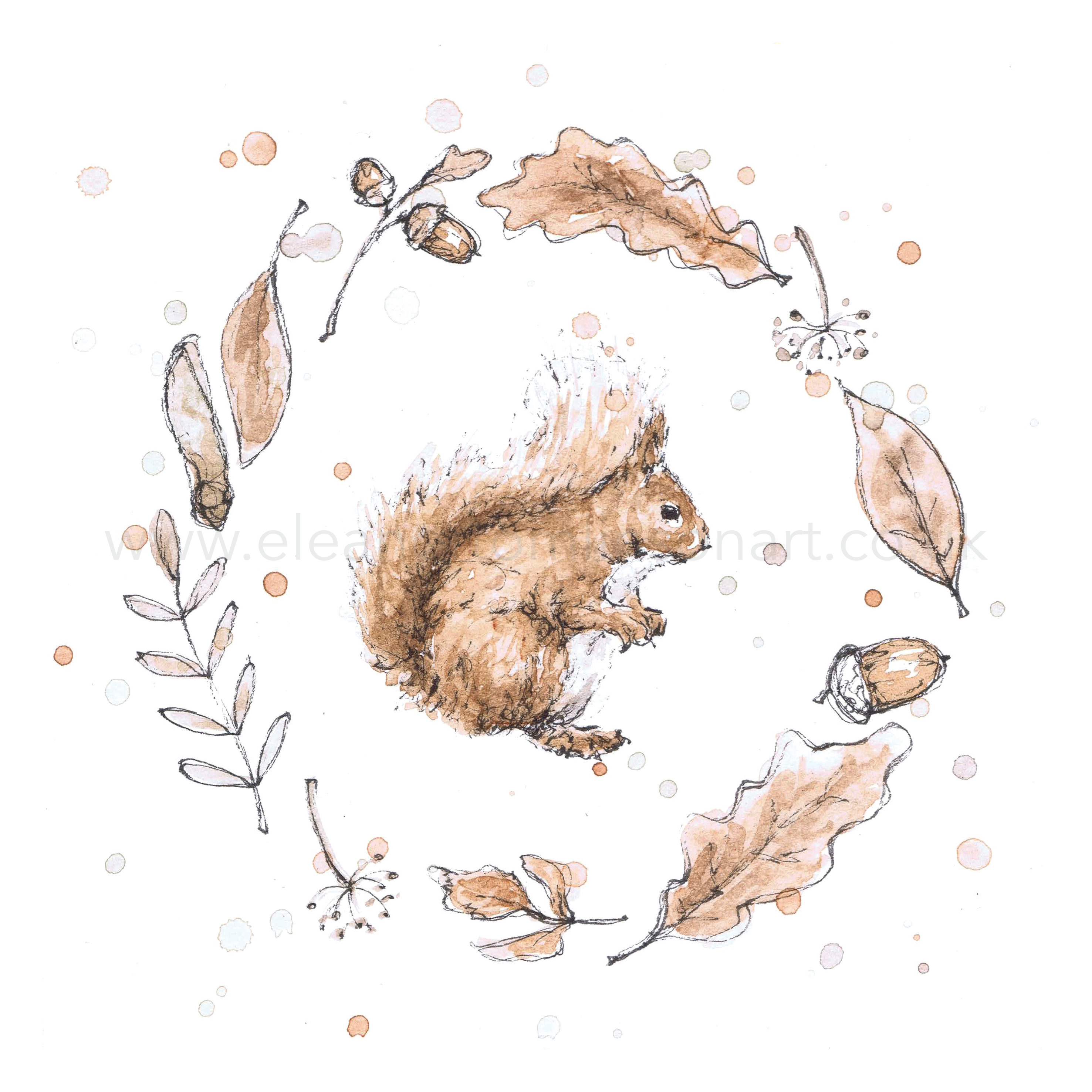 RED SQUIRREL WREATH