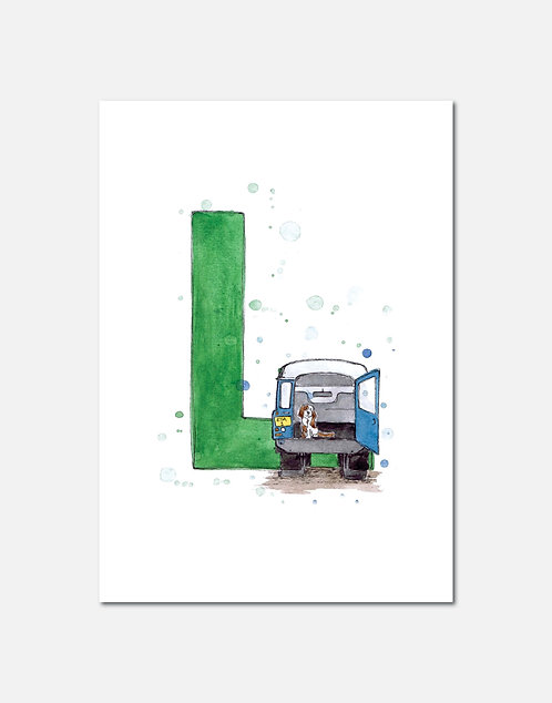 Letter L | Personalisable Alphabet Limited Edition Print