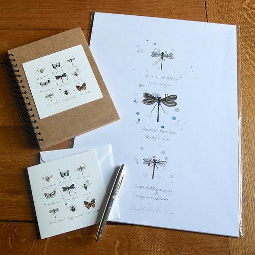 'Wings' Gift Set | Print, Notebook & Card