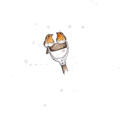Let it Snow | Original Ink & Watercolour