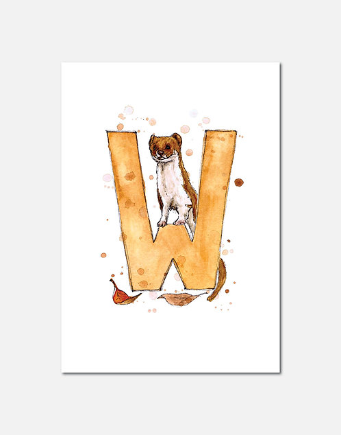 Letter W | Personalisable Alphabet Limited Edition Print