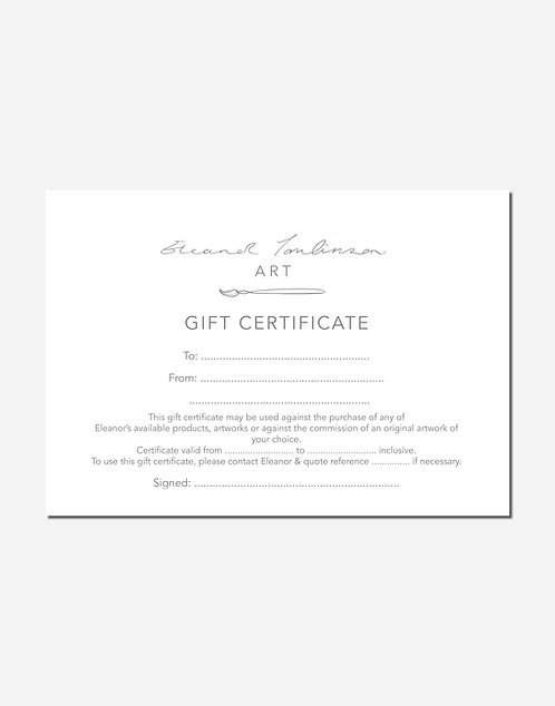 GIFT CERTIFICATE | £10
