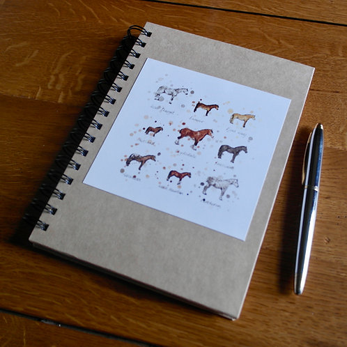 Horse Breeds | A5 Notebook