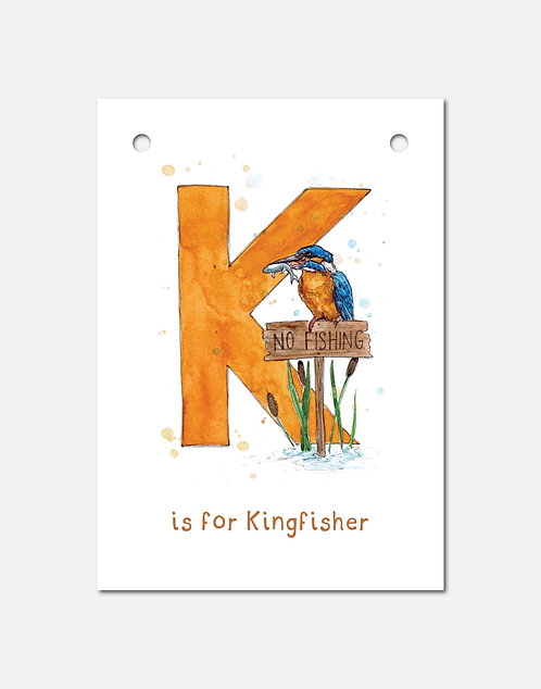 K is for Kingfisher | Alphabet Bunting