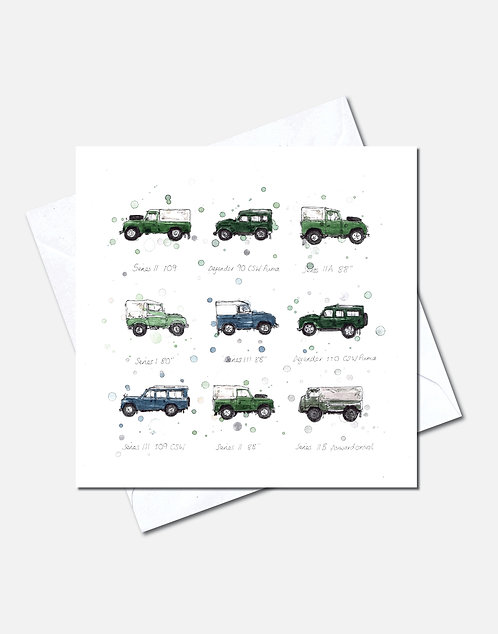 Land Rovers | Card Design