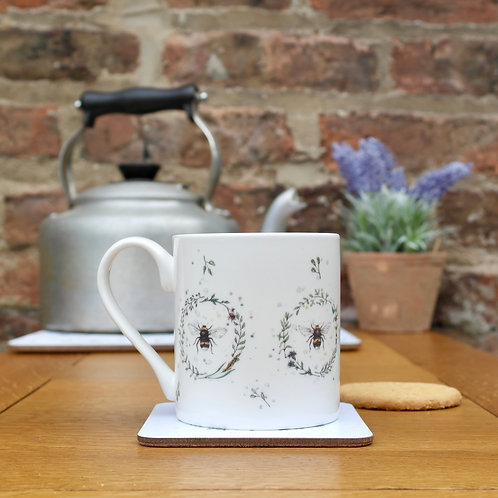 Garden Bees | Fine Bone China Mug