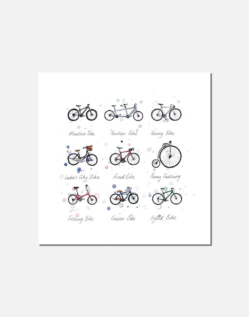 Bicycles | Signed Limited Edition Print