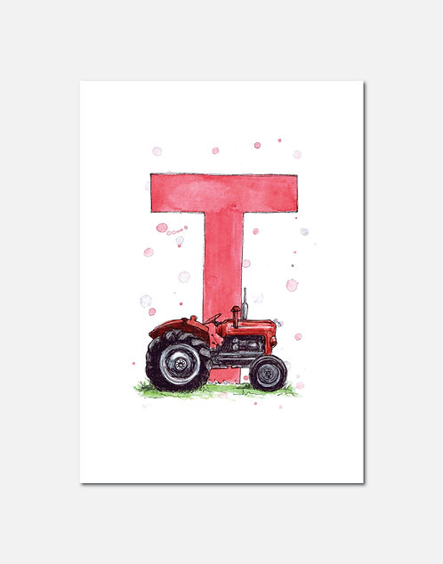Letter T | Personalisable Alphabet Limited Edition Print